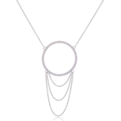 Giorgio Martello Round Silver Necklace with chains