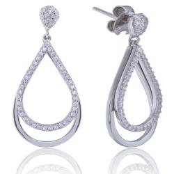 Giorgio Martello Drop-Shaped Silver Earrings