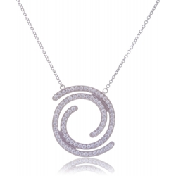Giorgio Martello Collier Spirale in Silber 925