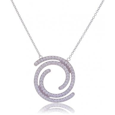 Giorgio Martello Spiral Silver Necklace