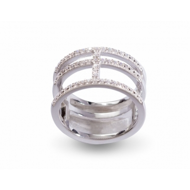 Giorgio Martello Rectangular Silver Ring