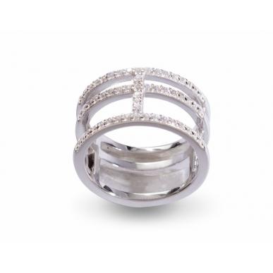 Giorgio Martello Ring rechteckig in Silber 925