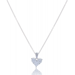 Giorgio Martello Heart Silver Necklace