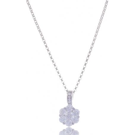 Giorgio Martello Flower Silver Necklace