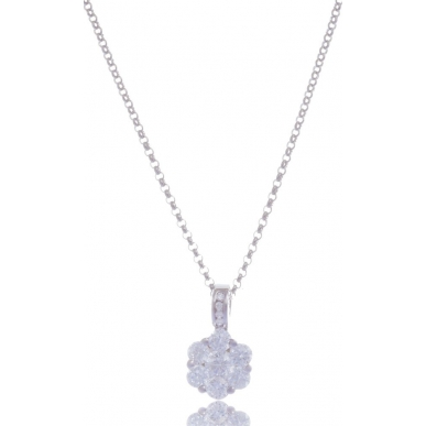 Giorgio Martello Flower Silver Necklace