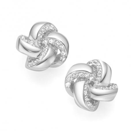 Giorgio Martello Knots Silver Earrings