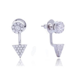 Giorgio Martello Silver Earrings round and triangular