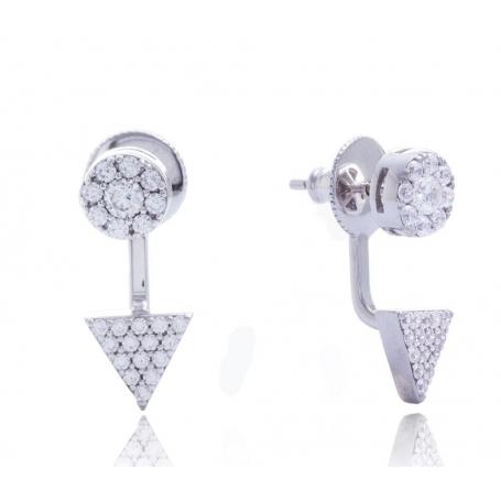 Giorgio Martello Silver Earrings round and triangular