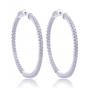 Giorgio Martello Silver Creole Earrings