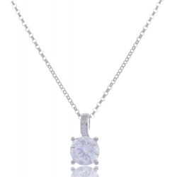Giorgio Martello Solitaire Silver Necklace