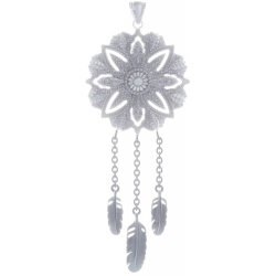 ANGELSVOICE Pendant dreamcatcher with feathers in silver 925