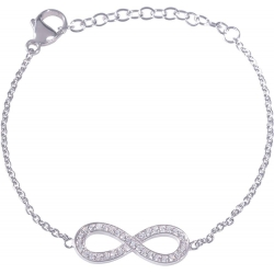 Angelsvoice Infinity Bracelet in silver 925 with zirconias