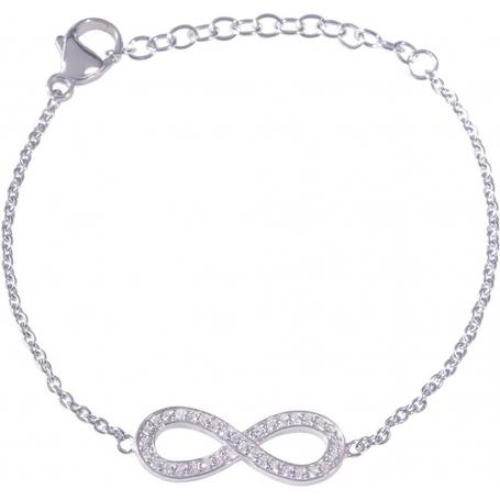 Angelsvoice Infinity Bracelet in silver 925 with zirconias