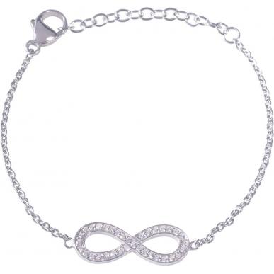 Angelsvoice Bracelet infinity en argent 925 avec zirconias