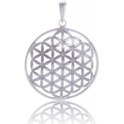 ANGELSVOICE Pendant domed flower of life in silver 925