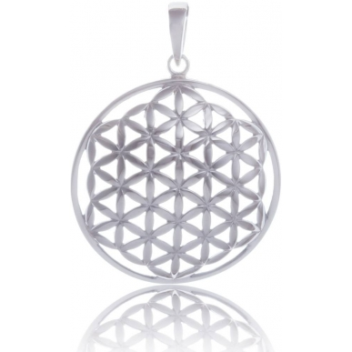 ANGELSVOICE Doomed pendant flower of life in silver 925