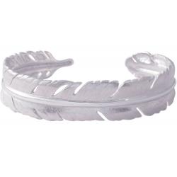 ANGELSVOICE Bracelet plume en argent rhodié