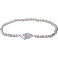 Angelsvoice Angel wings bracelet in silver with stones