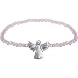 Angelsvoice Bracelet ange de l'amour en argent avec pierres naturelles