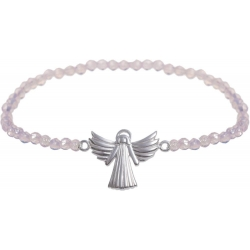Angelsvoice Armband Engel der Liebe in Silber mit Natursteinen