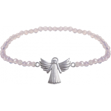 Angelsvoice Angel of love bracelet in silver with natural stones