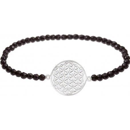 Angelsvoice Bracelet Fleur de vie en argent avec pierres naturelles