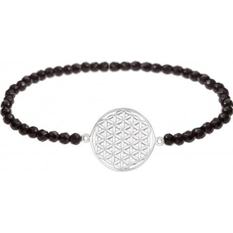 Angelsvoice Flower of life bracelet in silver with natural stones
