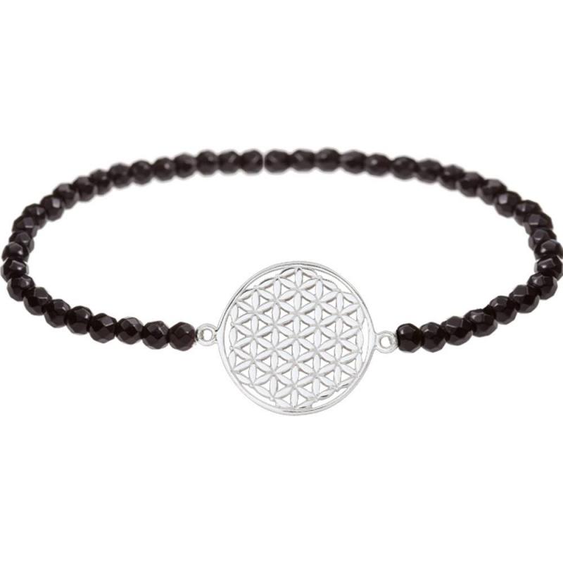 bracelet fleur de vie en argent avec pierres naturelles. Black Bedroom Furniture Sets. Home Design Ideas
