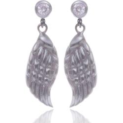 Angelsvoice Boucles d'oreilles ailes d'ange en argent avec zirconias