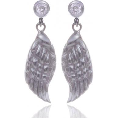 Angelsvoice Ohrstecker Engelsflügel in Silber mit Zirkonia