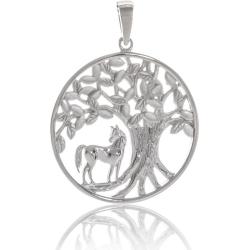 ANGELSVOICE Anhänger Silber 925 Lebensbaum mit Katze