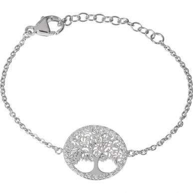 Bracelet Arbre de vie en argent avec zirconias