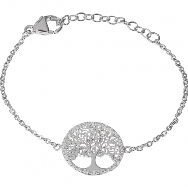 Tree of Life bracelet in silver with zirconias